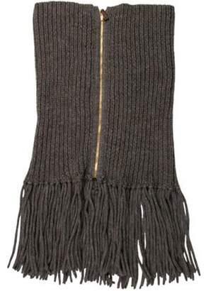 Gucci Alpaca & Wool-Blend Rib-Knit Snood wool Alpaca & Wool-Blend Rib-Knit Snood