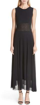 Fuzzi Cutout Waist Maxi Dress