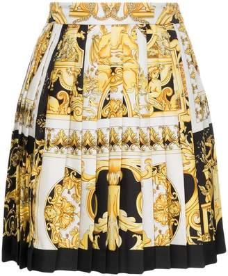 Versace silk barocco SS '92 print skirt