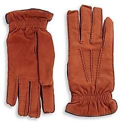 Brunello Cucinelli Men's Suede & Cashmere Gloves