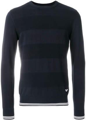 Emporio Armani wide stripe sweater