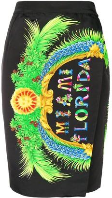 Versace Pre-Owned Florida print envelope skirt