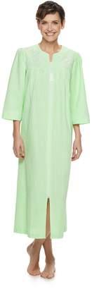 23a5579d85 Miss Elaine Women s Essentials Long Seersucker Zip Robe