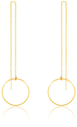 I Am Jewelry By Jamie Park 14k Gold Circle Threader Earrings