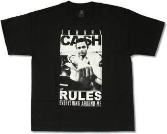 """Zion Rootswear Zion Adult Johnny Cash """"Rules"""" T-Shirt (2X-Large)"""