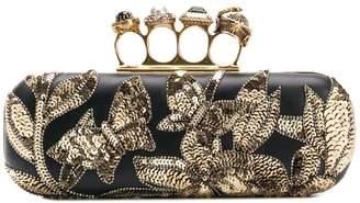 Alexander McQueen embellished sequined clutch