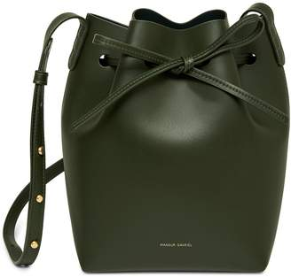 Mansur Gavriel Calf Mini Bucket Bag - Moss