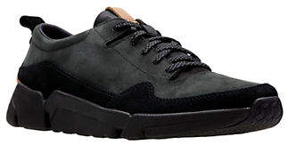Clarks Mens Triactive Run Leather Sneakers