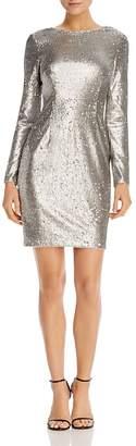 Aidan Mattox Aidan Aidan Long-Sleeve Sequin Sheath Dress
