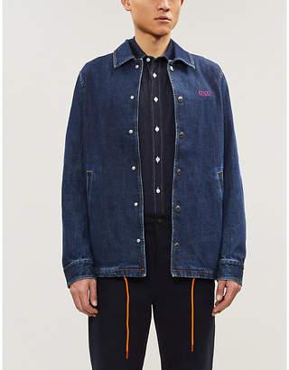 Kenzo Tiger embroidered regular-fit denim shirt