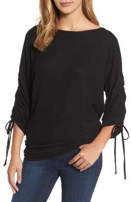 Gibson Cozy Tie Sleeve Top