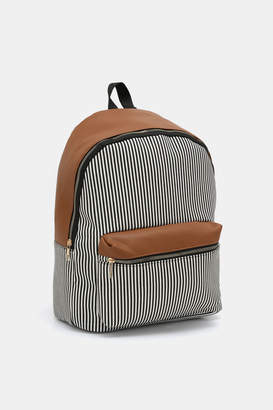 Ardene Striped Faux Leather Backpack