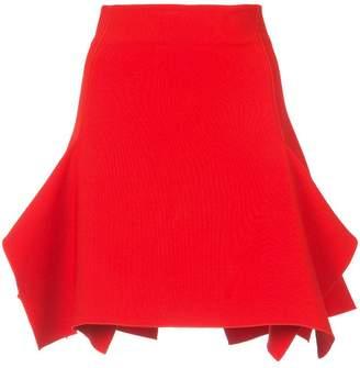 Dion Lee box ruffle draped mini skirt
