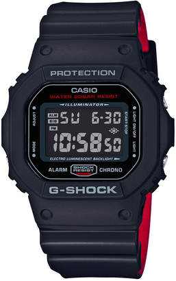 Casio G-Shock Men's Digital Blackout Black Resin Strap Watch 48x42mm DW5600HR-1