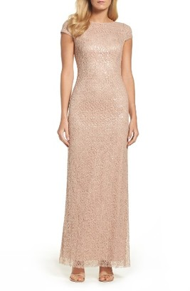 Women's Vera Wang Sequin Lace Gown $298 thestylecure.com