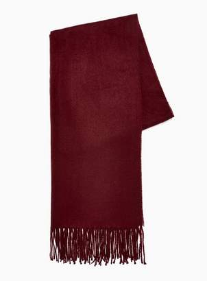 Topman Mens Red Burgundy Classic Woven Scarf