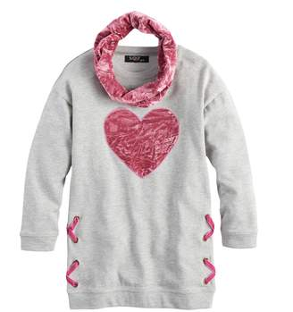 Velvet Heart Girls 7-16 Sugar Rush Crush Tunic & Infinity Scarf Set