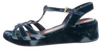 Marc Jacobs Velvet Ankle Strap Sandals