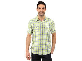 True Grit Beach Checks Short Sleeve Shirt Two-Pocket Combed Cotton Double Light Men's Short Sleeve Button Up
