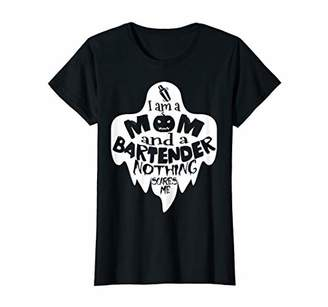 d6dc3d12a Womens I'm a Bartender Mom Nothing Scares Me Halloween T-Shirt