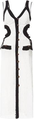 Self-Portrait Black Trim Lace Midi Dress $510 thestylecure.com
