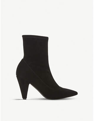 Dune Black Oxforde suede ankle boots