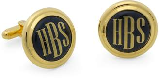 Brooks Brothers Gold and Black Hand Painted Enamel Cuff Links