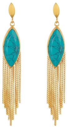 DEAN DAVIDSON Marquise Stone & Fringe Earrings