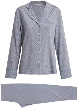 Poppy Snoozing stretch-silk pyjama set