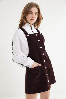BDG Corduroy Button-Front Mini Dress