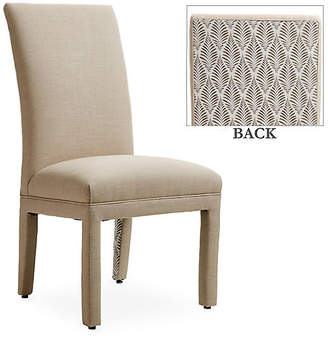 One Kings Lane Monroe Side Chair - Flax/Gray Fronds