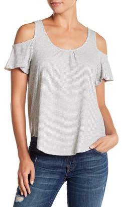 Lucky Brand Striped Cold Shoulder Tee