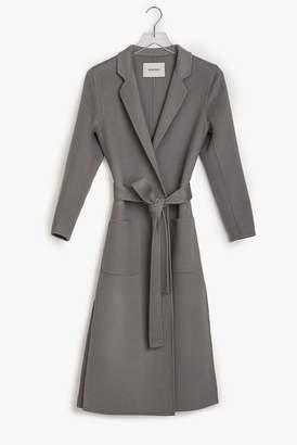 Genuine People Mid Weight Wool Wrap Coat