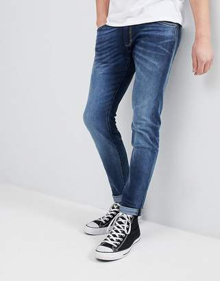 Wrangler Skinny Fit Jeans In Cloudy Blue