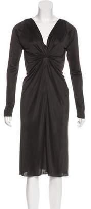 Balenciaga Silk Long Sleeve Dress