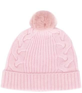 a20a082e46f Pink Cable Knit Hat - ShopStyle