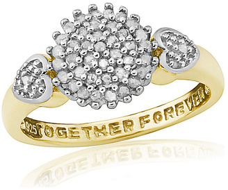 9ct Gold 0.25ct Diamond Together Forever Ring - T