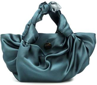 The Row The Ascot satin clutch