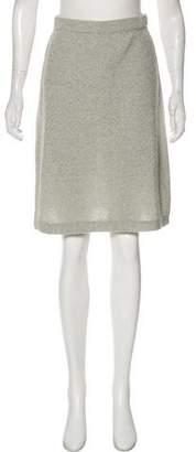 Fendi Textured Knee-Length Skirt