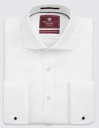 M&S Collection LuxuryMarks and Spencer Pure Cotton Twill Tailored Fit Shirt