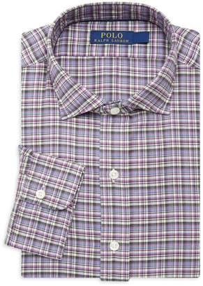 Ralph Lauren Blue Label Check Cotton Twill Long Sleeve Shirt