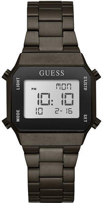 GUESS Unisex Digital Gunmetal Stainless Steel Bracelet Watch 39x39mm