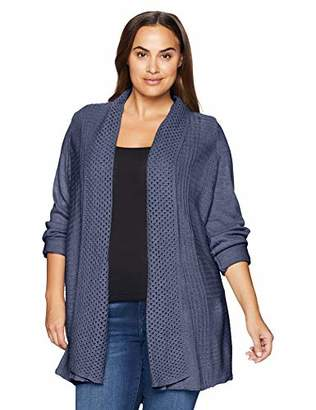 Napa Valley Women's Plus Size Cashmerlon Long Sleeve Mock Neck Pullover