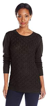 Dockers Women's Cable-Front Pullover Sweater $7.08 thestylecure.com