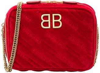 Balenciaga Reporter Bb Xs Quilted Velvet Bag