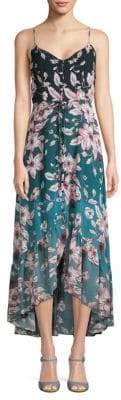 Nanette Lepore Floral Spaghetti-Strap Hi-Lo Dress