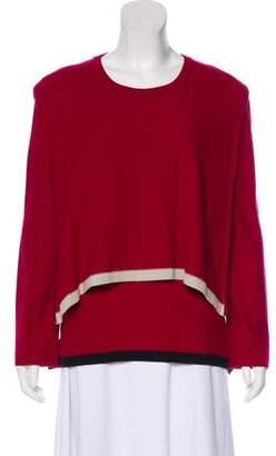 Sonia Rykiel Crew Neck Layered Sweater