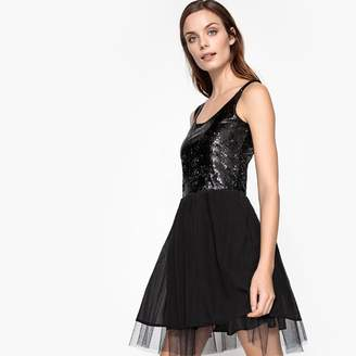 at La Redoute · La Redoute COLLECTIONS Skater Dress with Sequin Top 4bacb3136