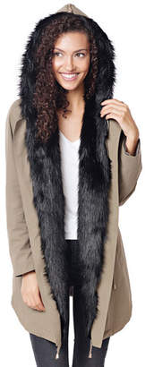 Fabulous Furs Faux Fur Anorak w/ Convertible Hood