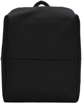Côte and Ciel Black Flat Eco Yarn Rhine Backpack